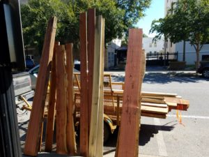 lumber at the market