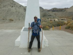 Mark Hainds at International Mile Marker 1